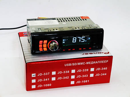 Автомагнитола Pioneer JD-337 ISO Usb+Sd+Fm+Aux+ пульт (4x50W), фото 2