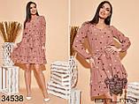 Элегантное женское платье в горошек размер: 48-52,54-58, фото 2