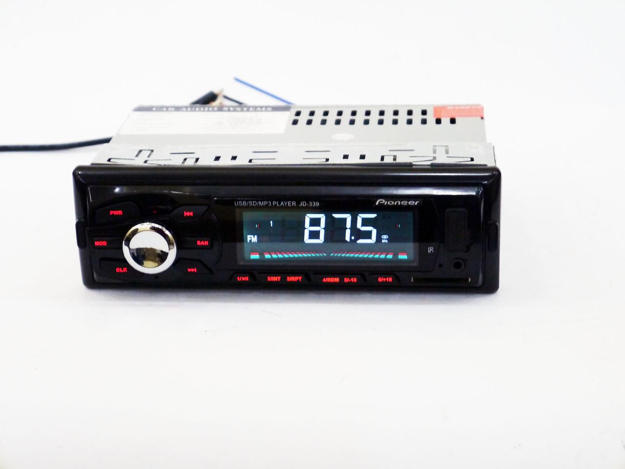 Автомагнитола Pioneer JD-339 ISO Usb+Sd+Fm+Aux+ пульт (4x50W)