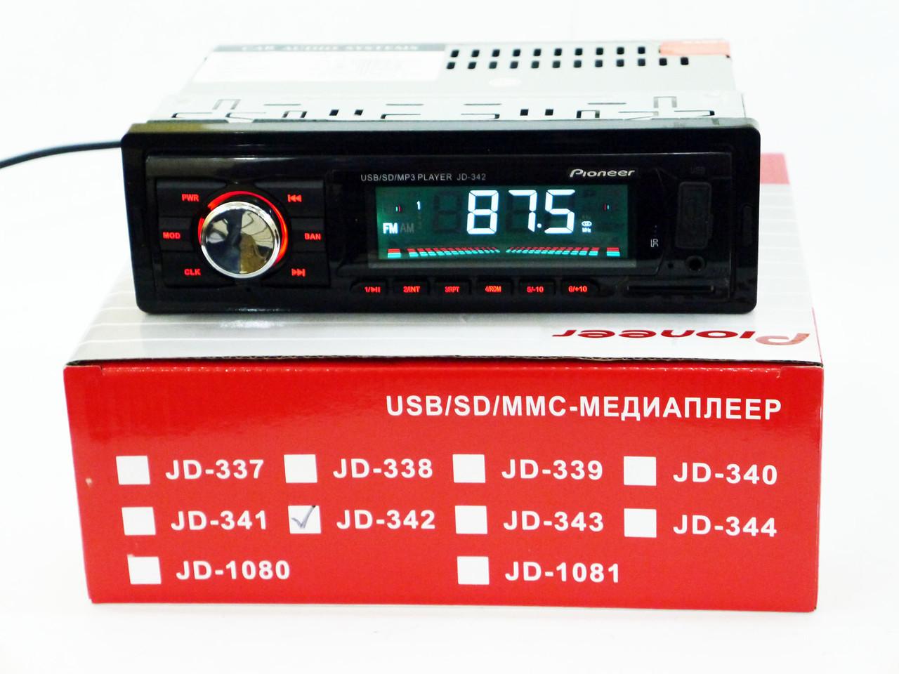 Автомагнитола Pioneer JD-342 ISO Usb+Sd+Fm+Aux+ пульт (4x50W)
