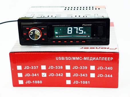 Автомагнитола Pioneer JD-342 ISO Usb+Sd+Fm+Aux+ пульт (4x50W), фото 2