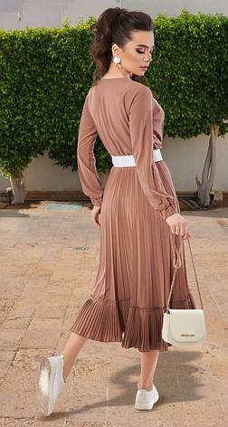 Сукня жіноча кольору кориці 42,44,46,48 р., фото 2