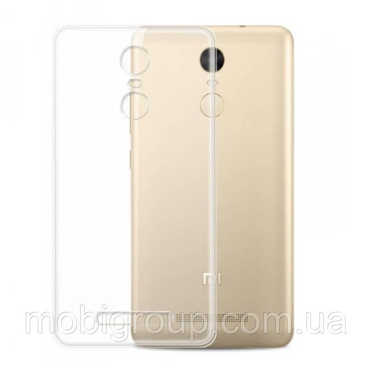 Чехол прозрачный силиконовый Xiaomi Note 4x, 0.5mm