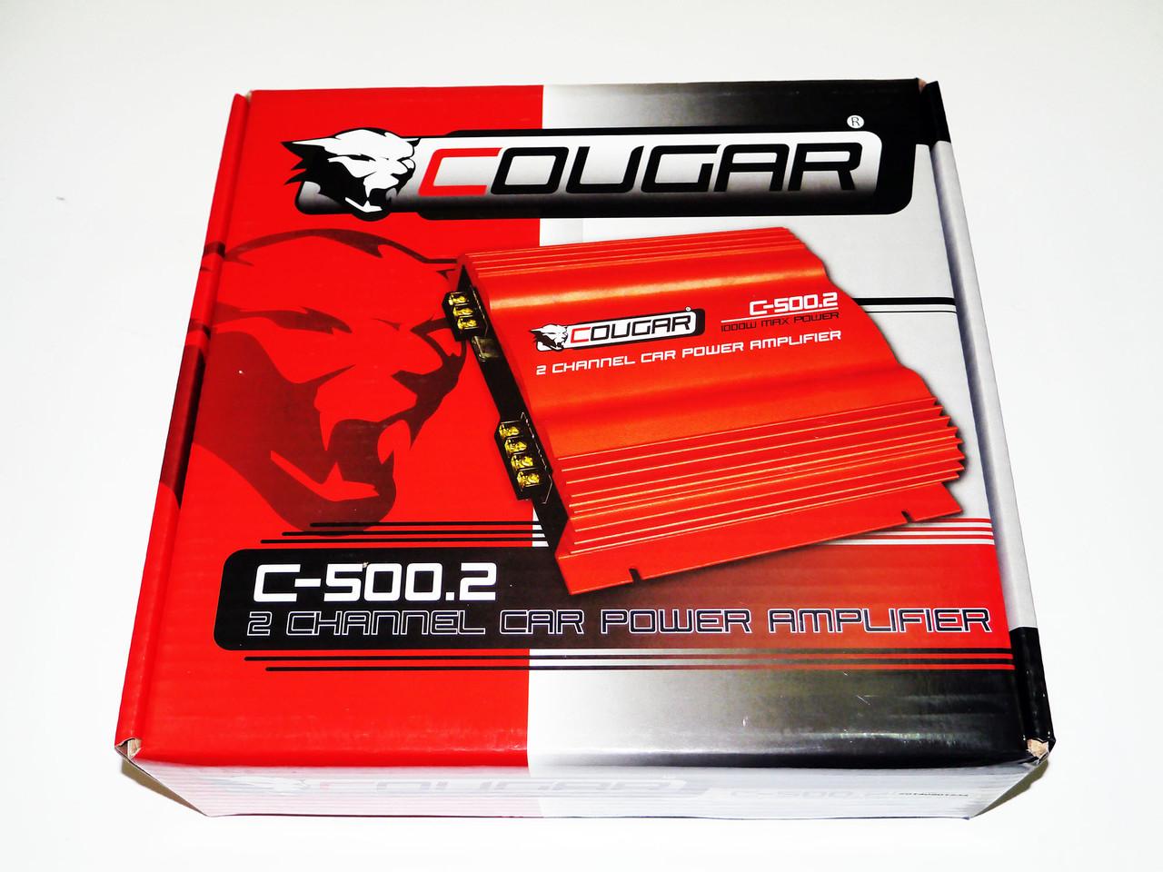 2-х канальный усилитель Cougar 500.2 1000Вт