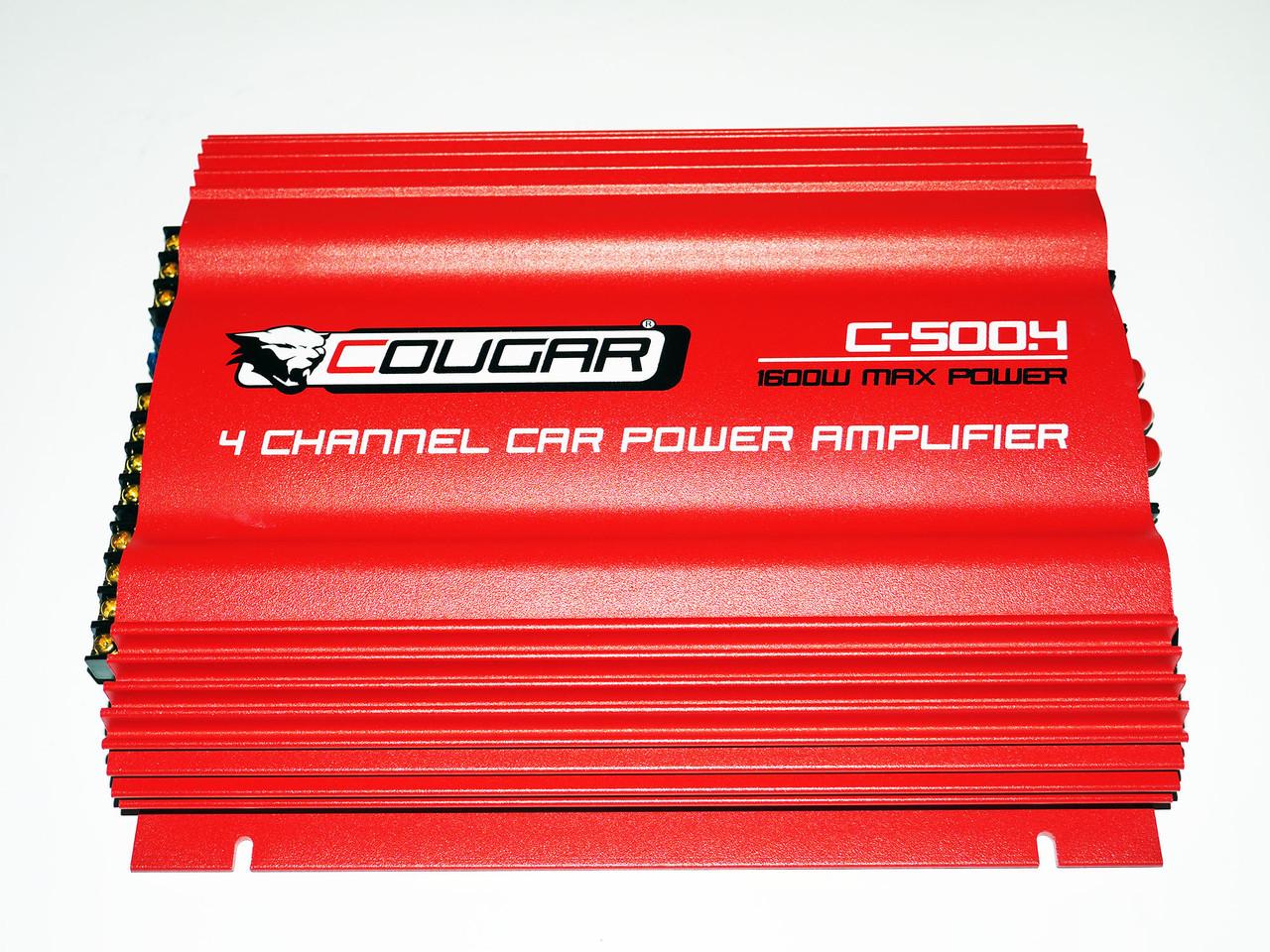 4-х канальный усилитель Cougar 500.4 1600Вт