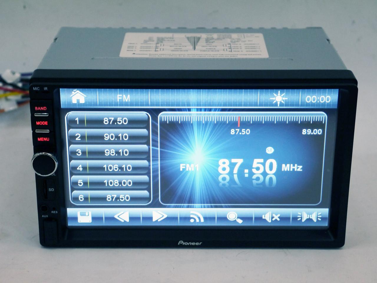 2Din Pioneer 8701 7' Экран Магнитола USB+Видео вход для камеры