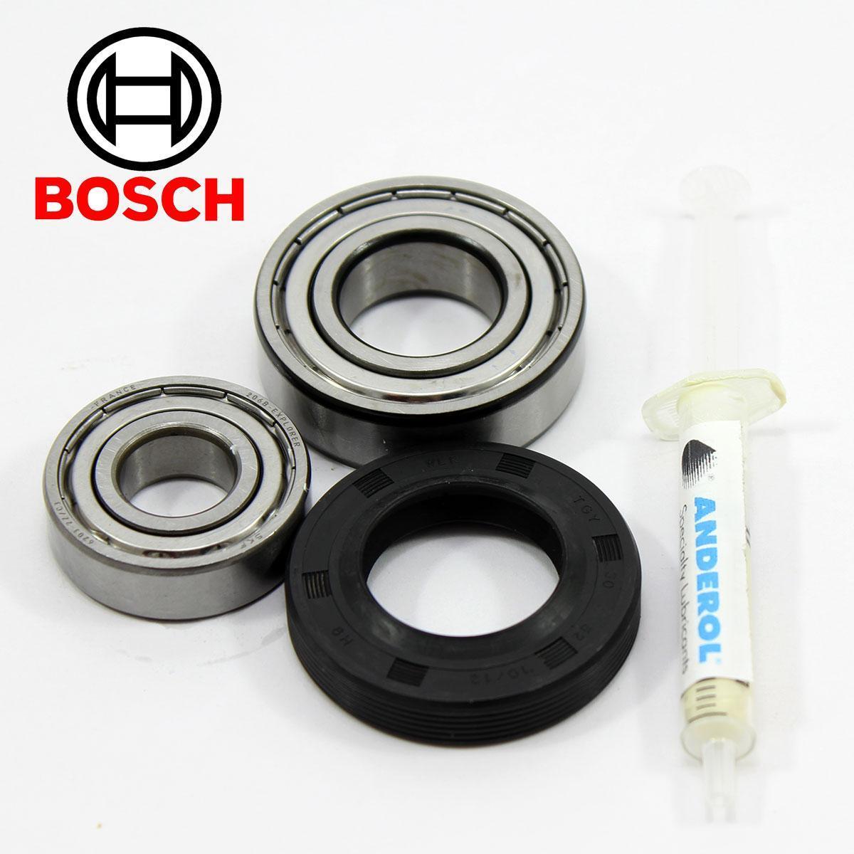 Комплект подшипников для стиральной машины Bosch и сальник (6203+6205+30*52*10/12)