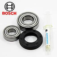 Комплект подшипников для стиральной машины Bosch и сальник (6203+6205+30*52*10/12), фото 1