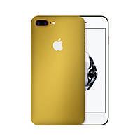 Защитная виниловая наклейка для iPhone 8 plus золотой матовый. Чехол для задней поверхности телефона