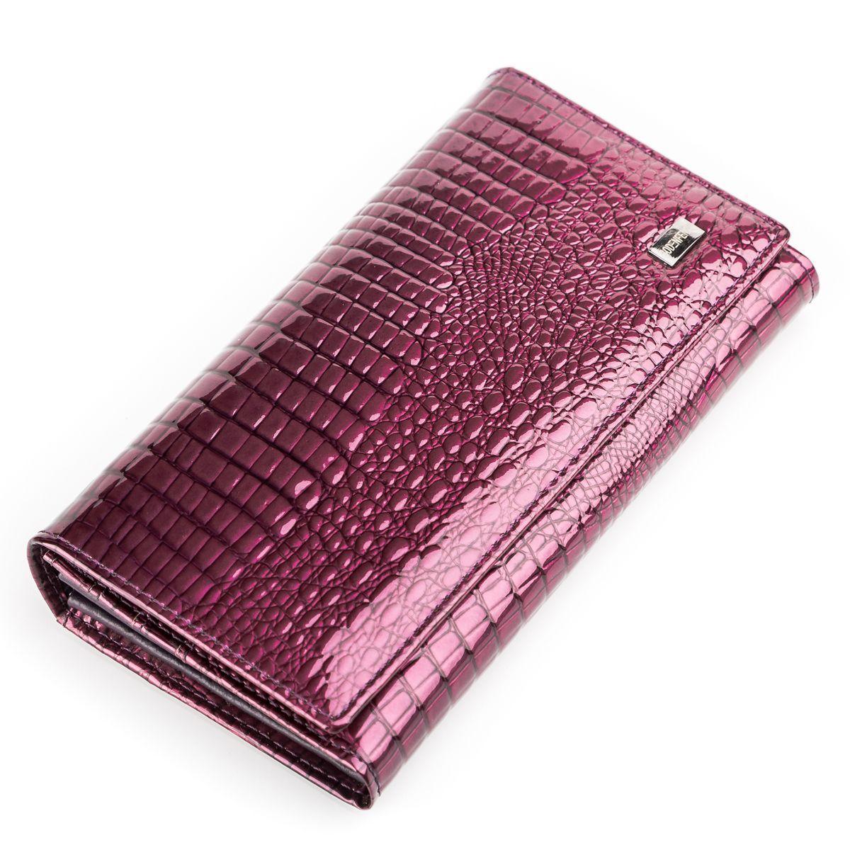 Кошелек женский BODENFENDY 13848 кожаный Фиолетовый