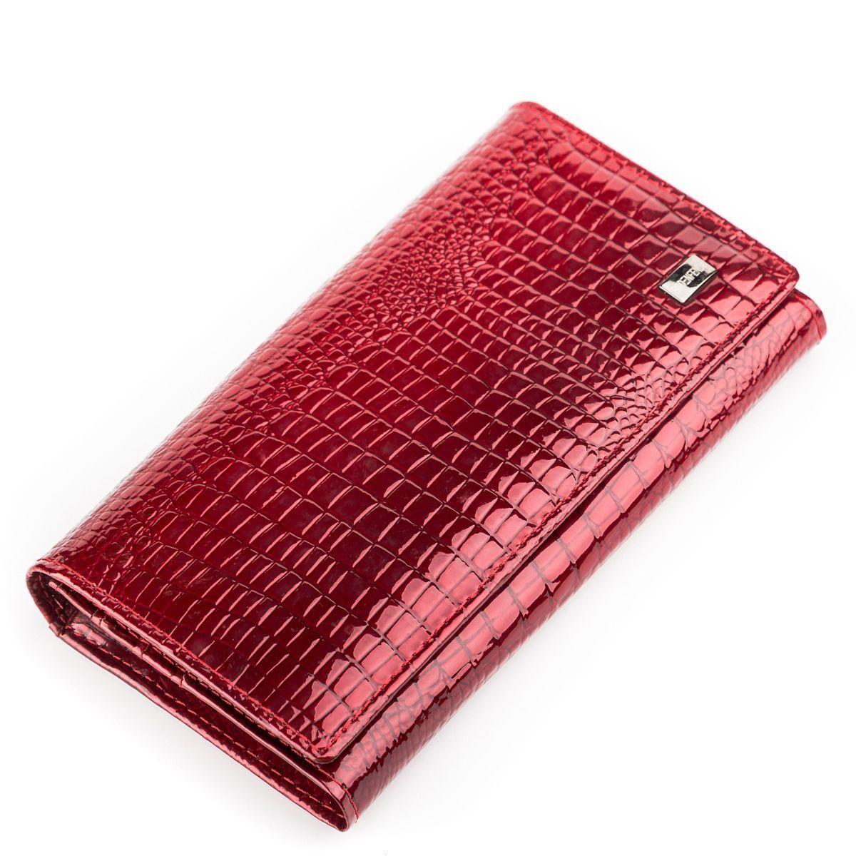 Кошелек женский BODENFENDY 13850 кожаный Красный
