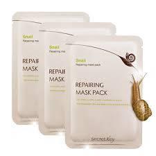 Тканевая маска Secret Key Snail Repairing Mask Pack