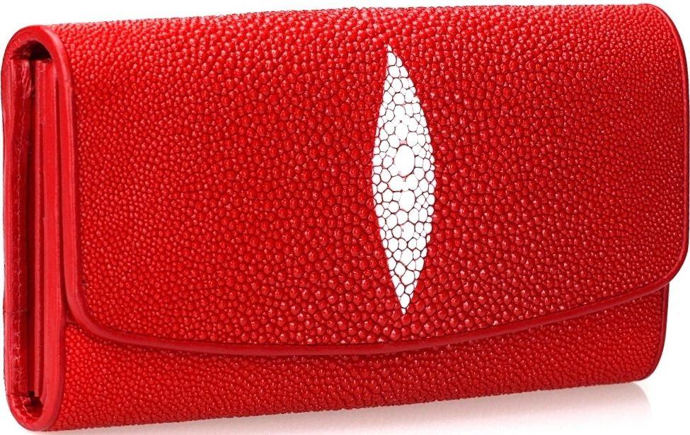 Гаманець жіночий STINGRAY LEATHER 18030 з натуральної шкіри морського скату Червоний