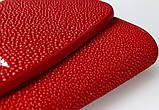 Гаманець жіночий STINGRAY LEATHER 18030 з натуральної шкіри морського скату Червоний, фото 8