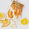 Фруктовые чипсы из яблок-30, апельсина-9 и дыни-11, смесь 50 грамм