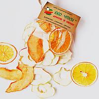 Фруктові чіпси з яблук-30, апельсина-9 і дині-11, суміш 50 грам, фото 1