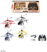 Вертолет на р/у, с гироскопом, металлический, свет, USB, 4 цвета, 33008-MK