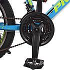 Спортивный велосипед колеса 20 дюймов PROFI G20PLAIN A20.2 голубой, фото 3