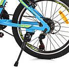 Спортивный велосипед колеса 20 дюймов PROFI G20PLAIN A20.2 голубой, фото 6