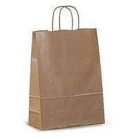 Крафт пакет бумажный с ручками 280х160х350 мм, бежевый