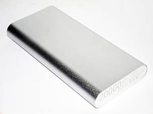 Power Bank  20000 металл Портативный аккумулятор, фото 2