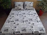 Комплект постельного белья бязь Голд Газета Двуспальный