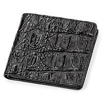 Портмоне CROCODILE LEATHER 18045 из натуральной кожи крокодила Черное, Черный, фото 1