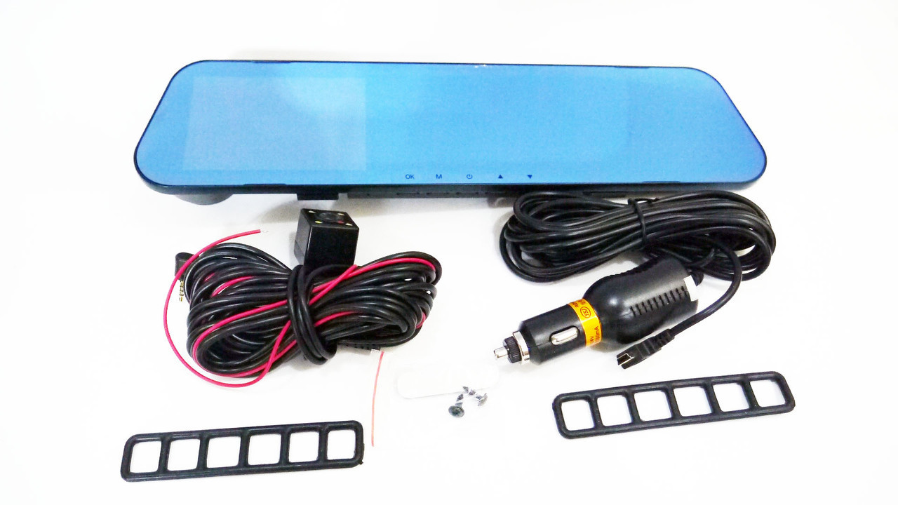 """Зеркало-видеорегистратор DVR L20 Full HD 4"""" с выносной камерой заднего вида"""