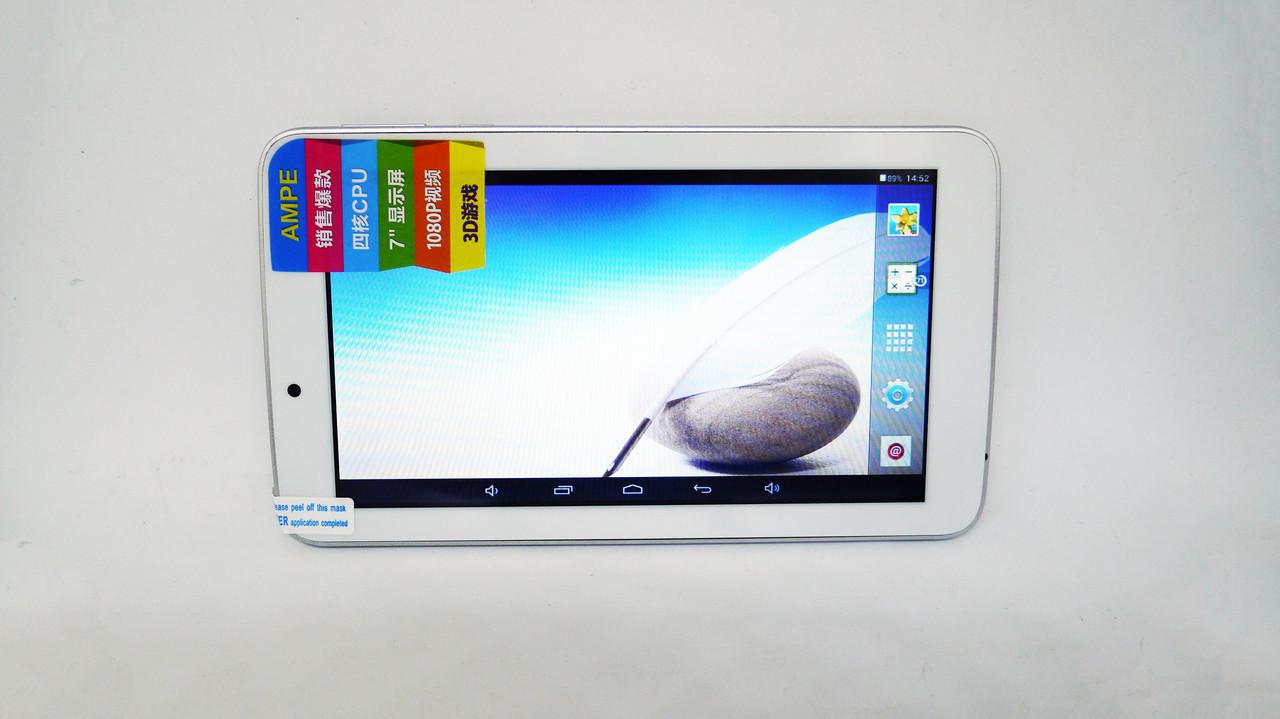 """7"""" планшет Ampe A77 - 4Ядра+512Mb Ram+8Gb Rom + Android 4.4"""