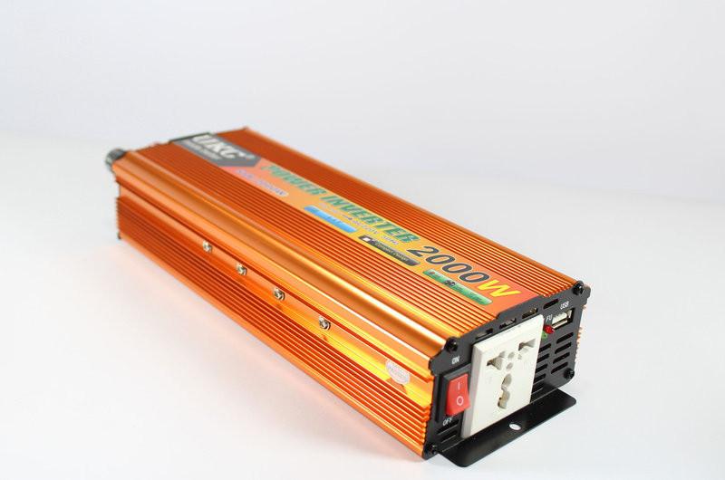 Перетворювач UKC 12V-220V 2000W Gold інвертор