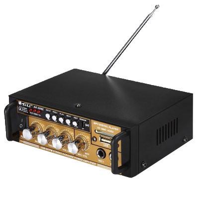 Підсилювач звуку AK-698E FM USB + Караоке