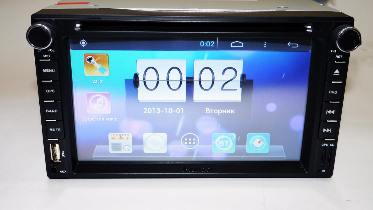 "2din Pioneer 8080 6,2"" Экран + DVD + USB + GPS + Bluetooth + Android"