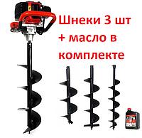 Мотобур Mar-Pol (3 шнека в комплекте 150-200-250мм)  5200Вт