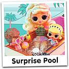 Машина купе кабриолет с куклой и с бассейном 3 в 1 L.O.L. Surprise Оригинал Car-Pool Coupe MGA, фото 10