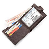 Мужской кошелек ST Leather 18310 (ST103) натуральная кожа Коричневый, фото 3