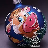 Стеклянный шар на елку Символ года 70457 диаметр 70 мм