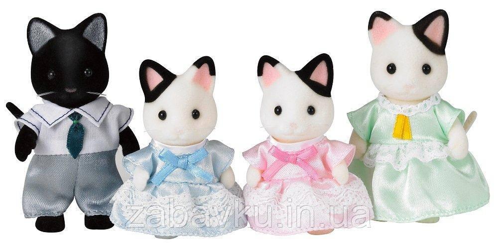 Сім´я Котів Сільваніан Sylvanian families Tuxedo Cat Family Сильвания фэмелис коты