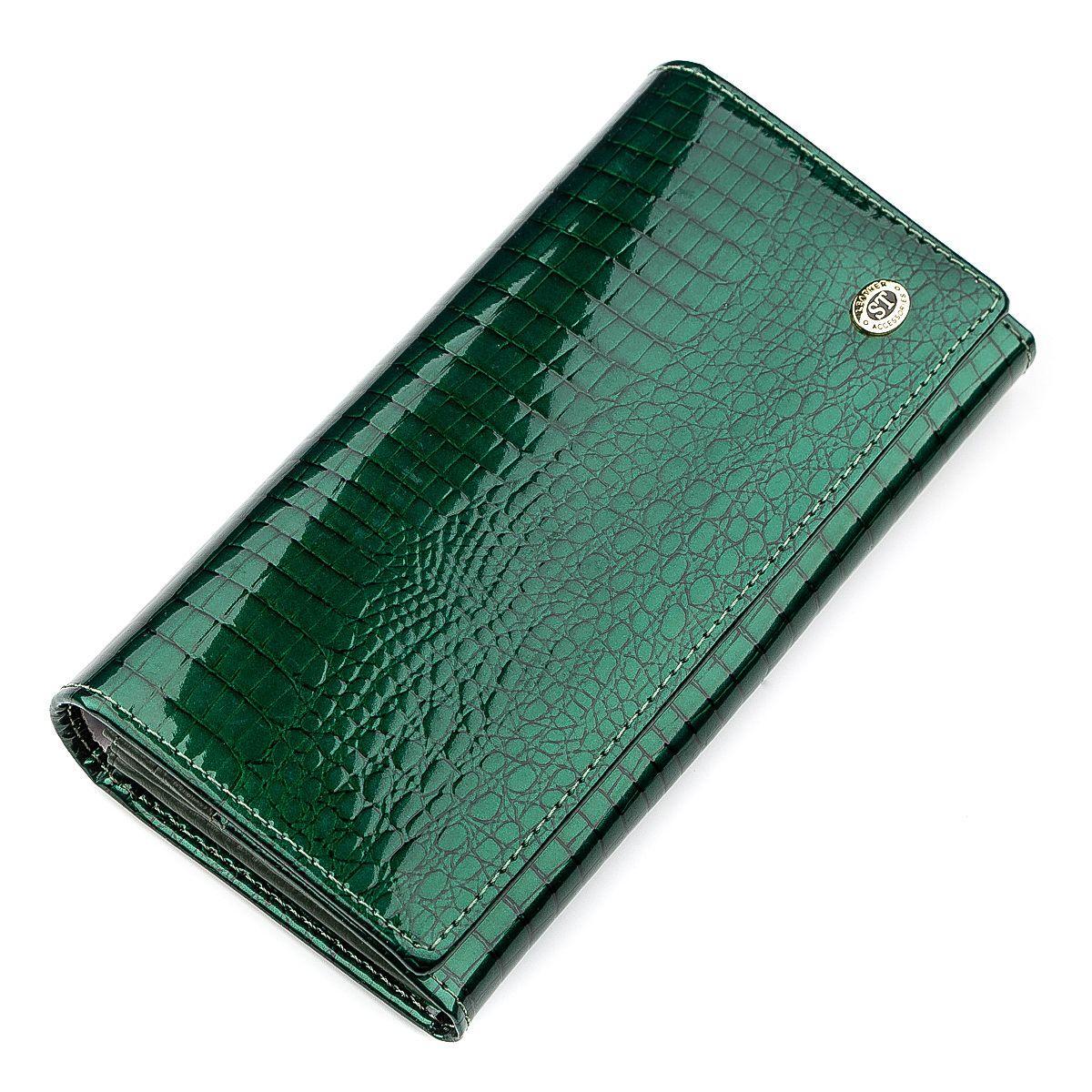 Кошелек женский ST Leather 18393 (S2001A) оригинальный Зеленый