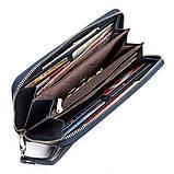 Мужской кошелек ST Leather 18420 (ST45) на молнии Синий, фото 4