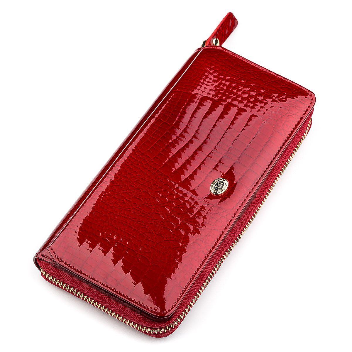Кошелек женский ST Leather 18436 (S7001A) вместительный Красный