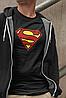 """Футболка черная мужская с принтом """"Superman"""", фото 2"""