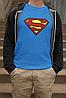 "Футболка синяя мужская с принтом ""Superman"", фото 2"