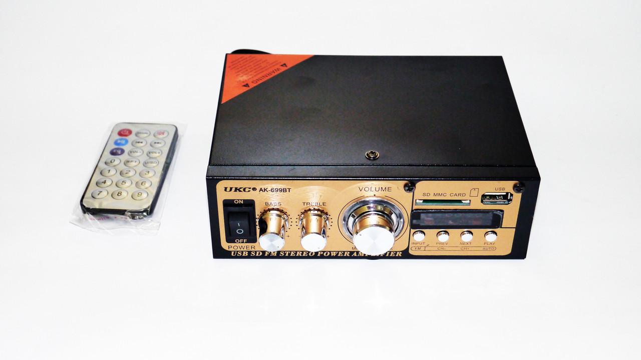 Підсилювач звуку UKC 699BT FM USB Блютуз 2x300W
