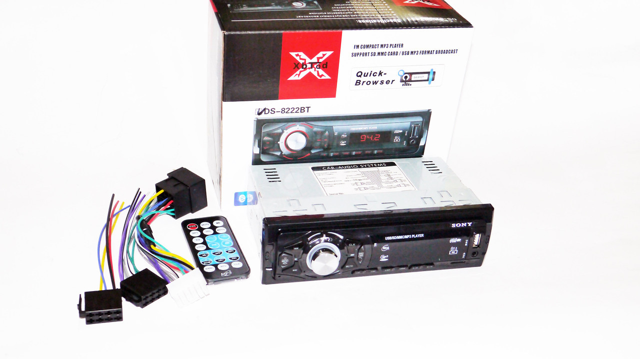 Автомагнитола Sony 8222BT ISO Bluetooth, MP3, FM, USB, SD, AUX