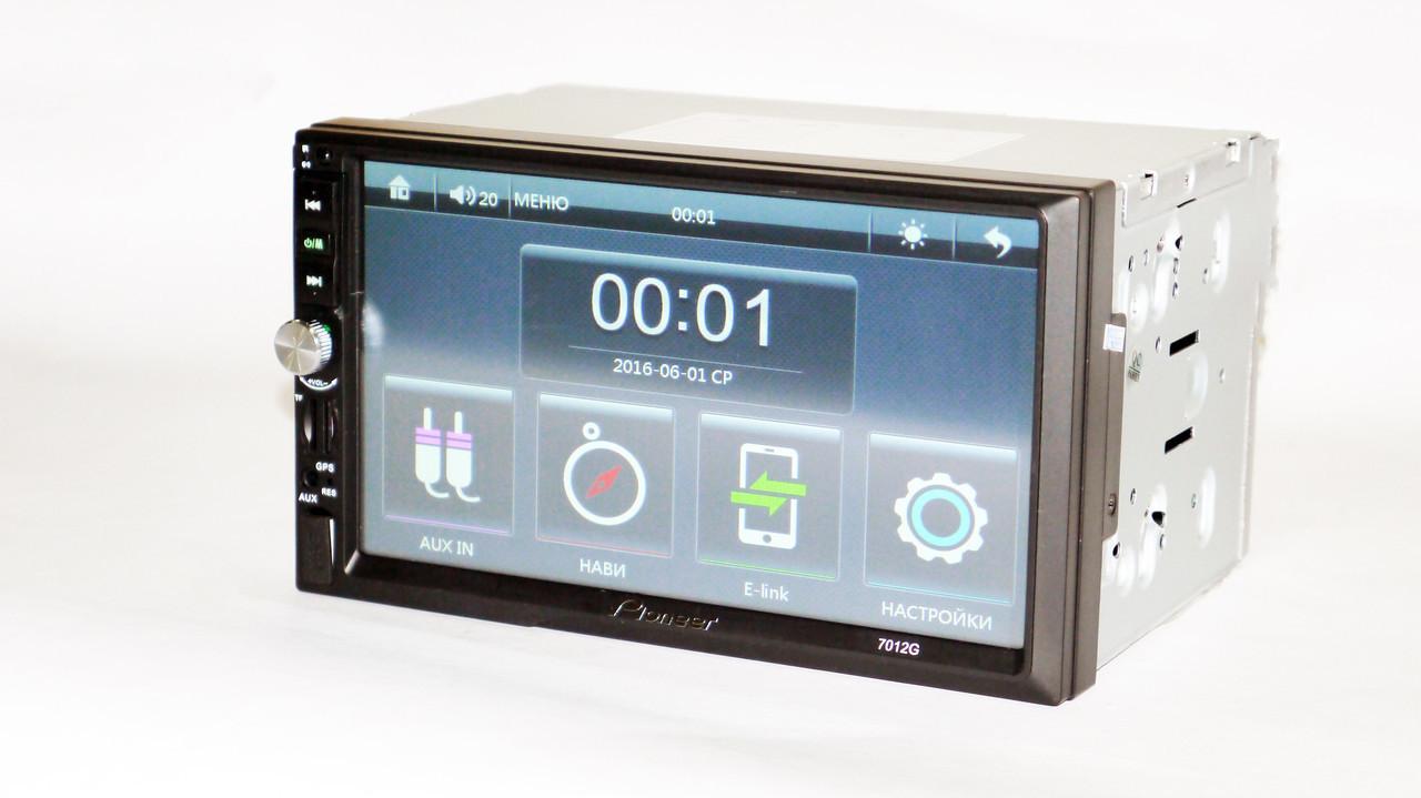 "2din Pioneer 7012G GPS Магнитола 7"" Экран + AV-in + пульт"
