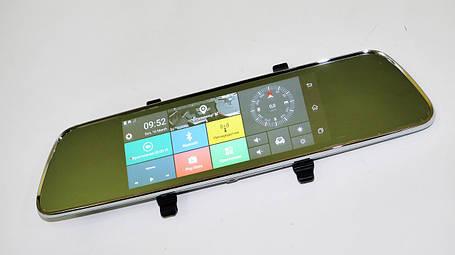 "DVR 702 Зеркало регистратор, 7"" сенсор, 2 камеры, GPS навигатор, WiFi, 8Gb, Android, 3G, фото 2"