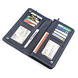 Мужской кошелек ST Leather 18443 (ST291) многофункциональный Синий, фото 3