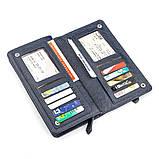 Мужской кошелек ST Leather 18443 (ST291) многофункциональный Синий, фото 4