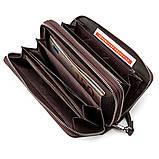 Мужской кошелек ST Leather 18450 (ST127) две молнии Коричневый, фото 3