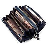 Мужской кошелек ST Leather 18452 (ST127) надежный Синий, фото 3